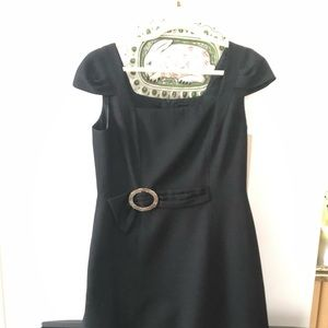 Black David Meister Fitted Dress